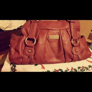 Red Genuine Leather Purse